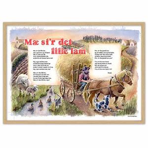 Mæ si'r det lille lam – sangplakat