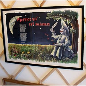 Pjerrot sa' til månen – Sangplakat